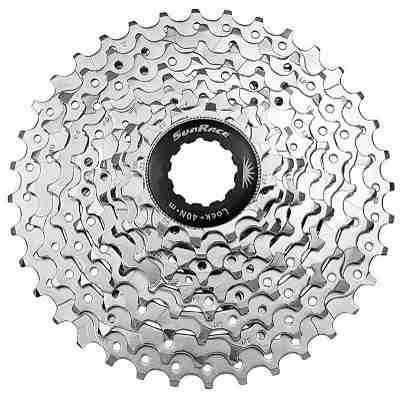 Imagem de K7 Catraca Cassete Bike M96 9v Index 11-34 Cromado Sunrace