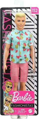 Imagem de Ken Fashionistas 152 Loiro Com Óculos GHW68 - Mattel (15451)