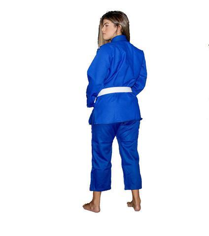 Imagem de Kimono Jiu Jitsu Trançado Flex - Adulto - Azul - Unissex - Torah