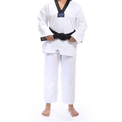 Imagem de Kimono Torah Dobok Taekwondo Reforçado Gola Preta - A5