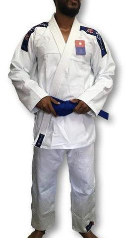 Imagem de Kimono Trançado Flex Jiu Jitsu Adulto - Branco - Torah
