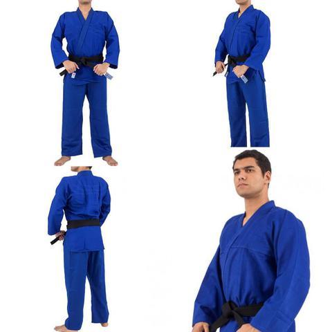 Imagem de Kimono Trançado Training Judô / Jiu-Jitsu Torah - Azul - JR