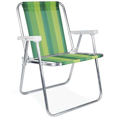 Imagem de Kit 02 Cadeira Alumínio+ Cadeira inf Rosa + Guarda-Sol 1,80+Saca Areia+Kit Frescobol