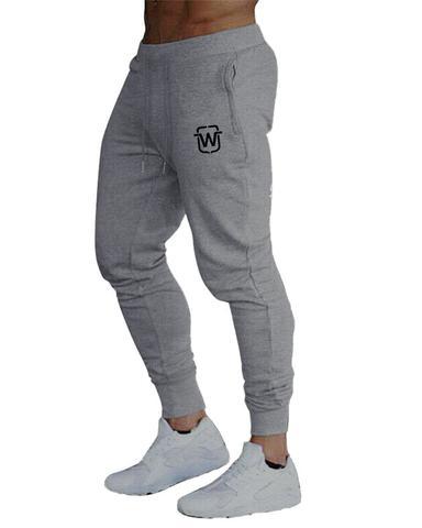 Imagem de Kit 02 calças de moletom masculina slim sport academia wooks