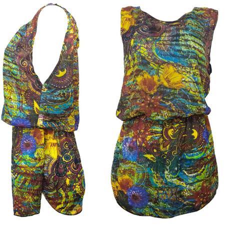 Imagem de Kit 02 Saída de Praia Curta Vestido Transparente Coloridos Verão Regata