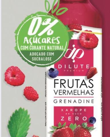 Imagem de Kit 02 xarope dilute premium zero açucar frutas vermelhas + limão siciliano 500 ml soda italiana