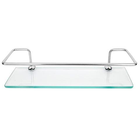 Imagem de Kit 03 porta shampoo reto 30 cm prateleira vidro temp. 6mm