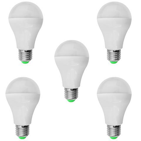 Imagem de Kit 05 PeÇas - Lampada Led Bulbo PlÁstico 7w Bivolt Branco Frio 6500k