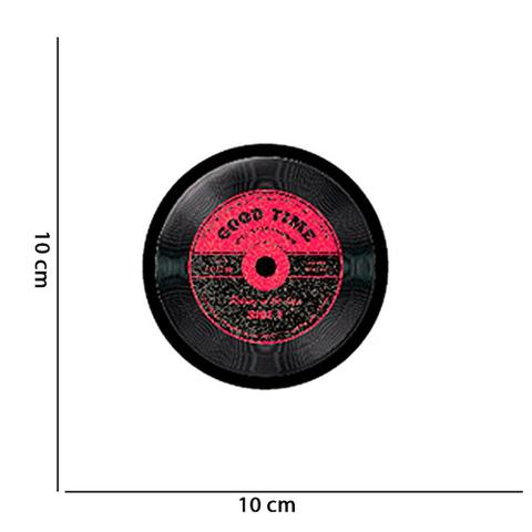 Imagem de Kit 06 Bolachas Porta Copos Redondos Disco de Vinil D'Rossi