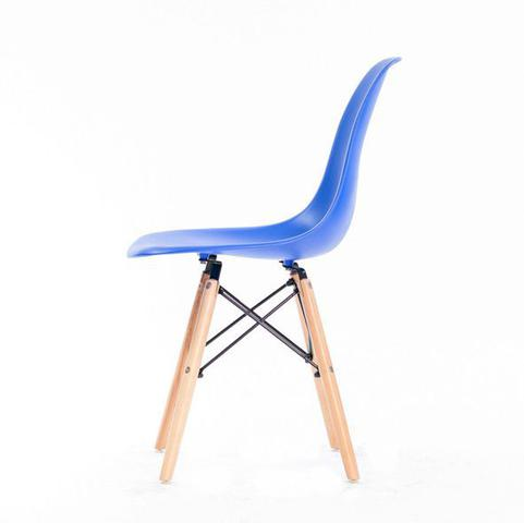 Imagem de kit 06 cadeiras Eames Wood DSW/PP - Azul Bic - Garantia + NF