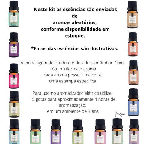 Imagem de Kit 1 Aromatizador Elétrico De Tomada Porcelana + 5 Essencias 10ml Via Aroma