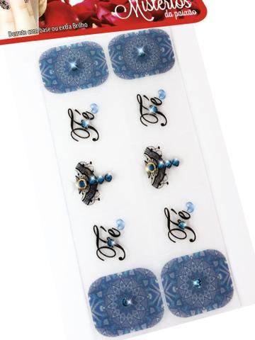 Imagem de Kit 10 Cartelas Películas de Gel para Unhas Mistérios, Arte Sedução