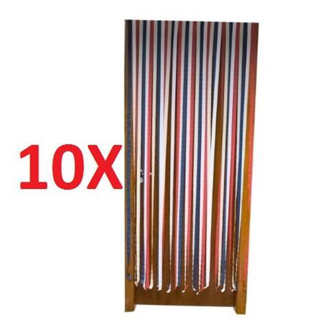 Imagem de Kit 10 cortina para porta anti insetos tela protecao contra mosquitos zika dengue para varanda e cas