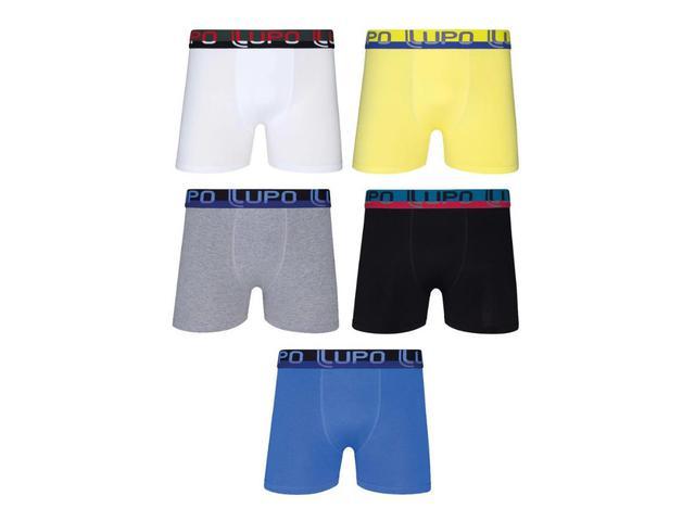 Imagem de Kit 10 Cuecas Boxer Box Lupo Algodão Cotton Masculino Oferta