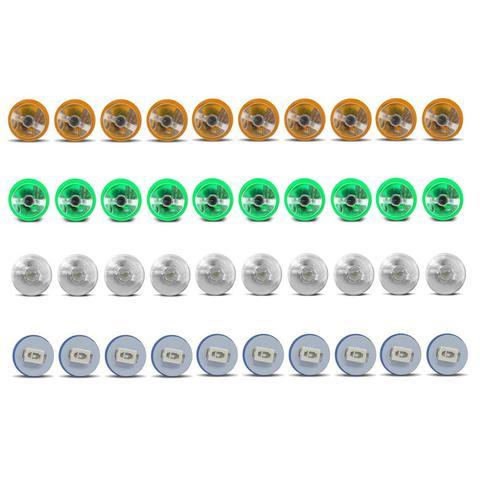Imagem de Kit 10 Lâmpadas T10 W5W Pingo Esmagadinha 5W 12V Aplicação Painel Todas as Cores Autopoli