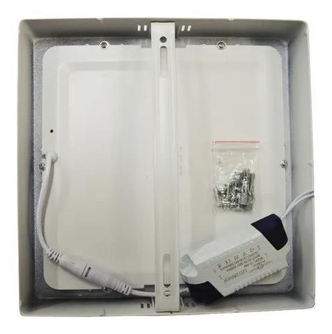 Imagem de Kit 10 Painel Plafon Luminária Led 12w Quadrado Sobrepor Branco Quente Iluminação Decoração