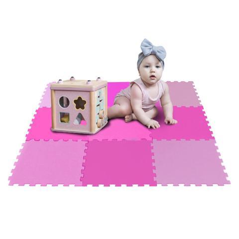 Imagem de Kit 10 Pçs Tapete  Tatame Eva Ginastica Fitness Academia Feminina Bebe Cobre 2,5m²