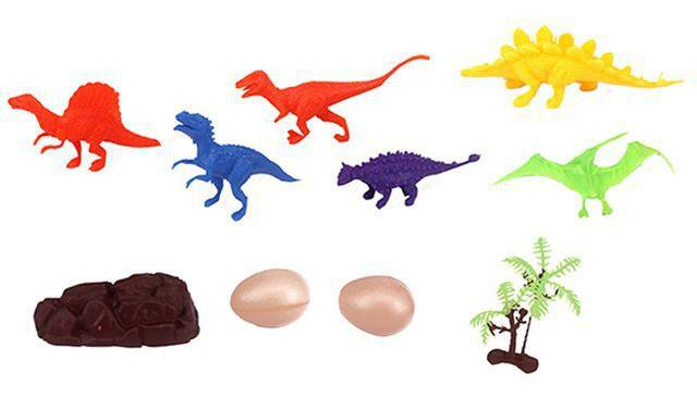 Imagem de Kit 10 peças Dinossauro Incríveis e Acessórios