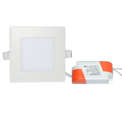 Imagem de Kit 10 peças Luminária Plafon LED Quadrado Embutir 6w Branco Frio 6500k