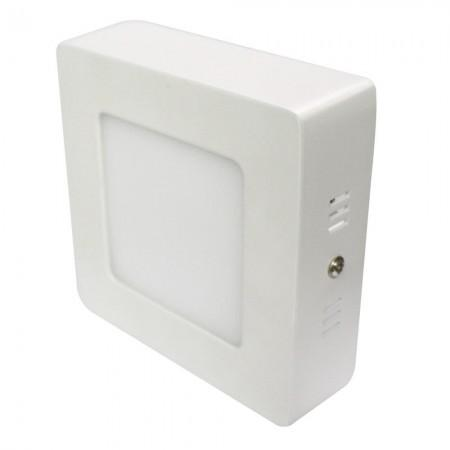Imagem de Kit 10 Peças Luminária Plafon LED Quadrado Sobrepor 6w Branco Frio 6500k