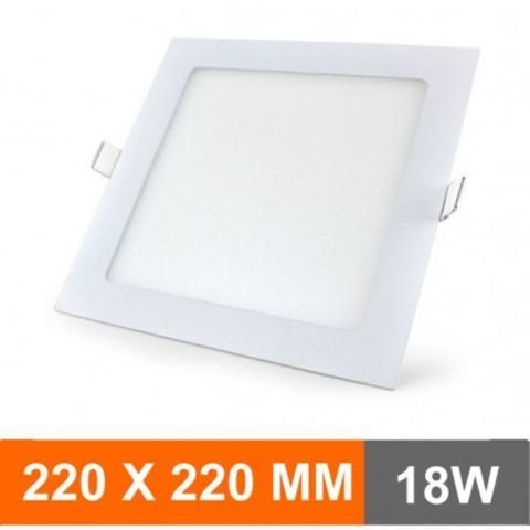 Imagem de Kit 10 Plafon 18W Luminária LED Painel Embutir QUADRADO Bran