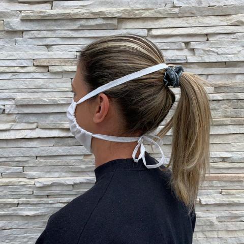 Imagem de Kit 10 Protetor facial de tnt duplo proteção lavável