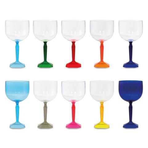 Imagem de Kit 10 Taças De Gin Safira 550 Ml Acrílico - Diversas Cores