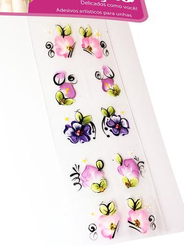 Imagem de Kit 100 Adesivos para Unhas Arte Sedução, 100% Artesanal