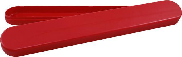 Imagem de KIT 10un - Mini Estojo Escolar PSAI  - cód 685 - Vermelho metalizado