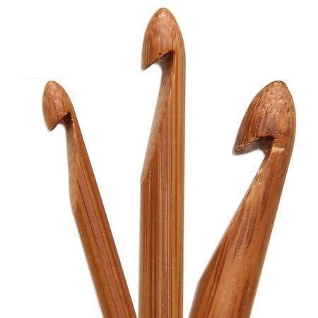 Imagem de Kit 12 Agulhas Tunisiana de Crochê em Bambu