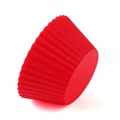 Imagem de Kit 12 Forminhas de Silicone Vermelhas Cupcake + Decorador com 8 Bicos  injetemp