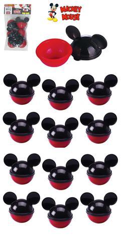 Imagem de Kit 12 peças mini pote porta mix mickey mouse lembrancinhas