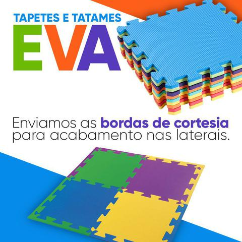 Imagem de Kit 12 Tapete Tatame Eva Loja da Maria EVA 50x50x1cm 10mm Colorido