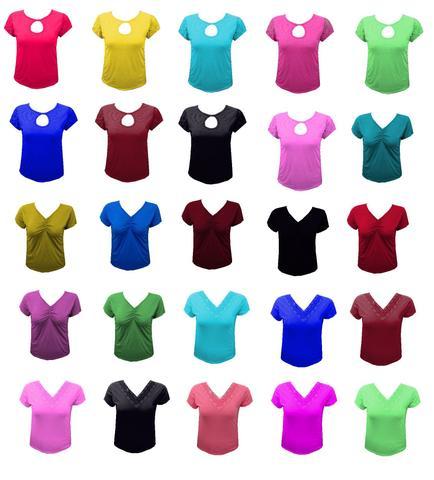 Imagem de Kit 15 Blusas Moda Executiva Plus Size Revenda Atacado Verão