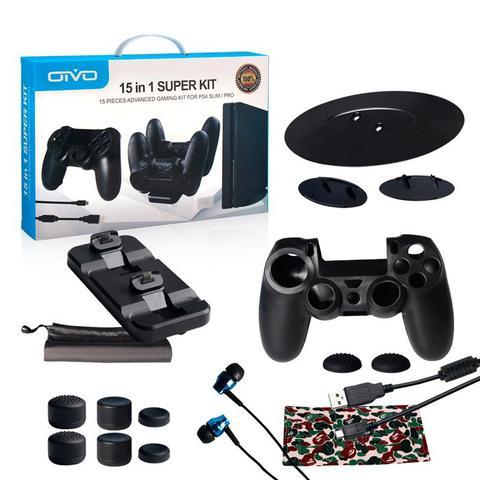 Imagem de Kit 15 Em 1 Acessórios - PlayStation 4 video game