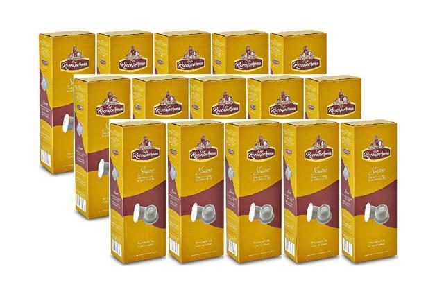 Imagem de Kit 150 Cápsulas de Café Roccaporena Compatível Com Nespresso - 15 Caixas Suave