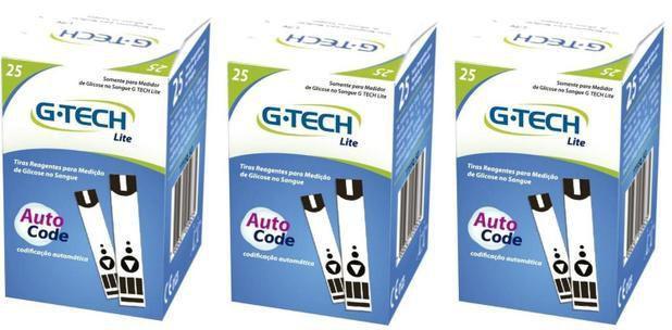 Imagem de Kit 150 Tiras Reagentes G-tech Free Lite Para Medir Glicemia