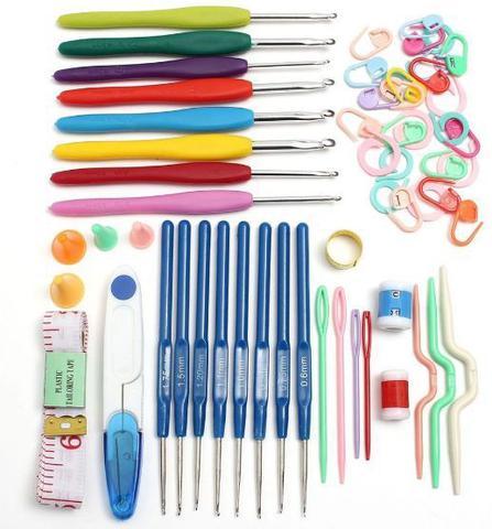 Imagem de Kit 16 agulhas de croche e Acessorios e Estojo