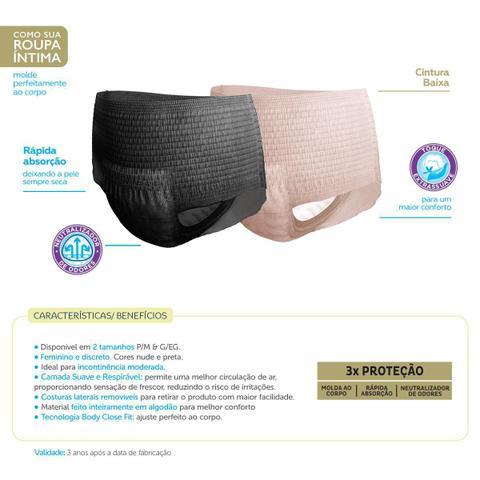 Imagem de Kit 16 Roupa Íntima Tena Pants Confort G/EG + 8 Calcinha Pants Discreet Nude G/EG