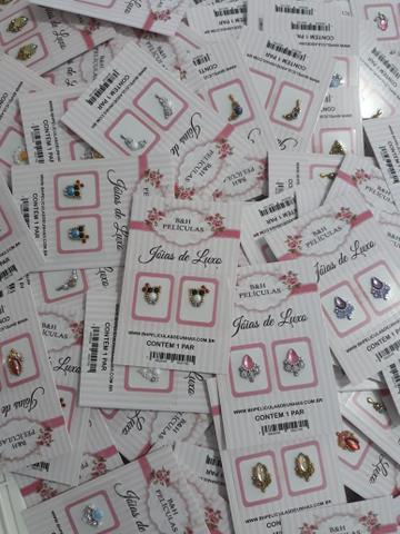 Imagem de Kit 17 cartelas de  joias para unhas
