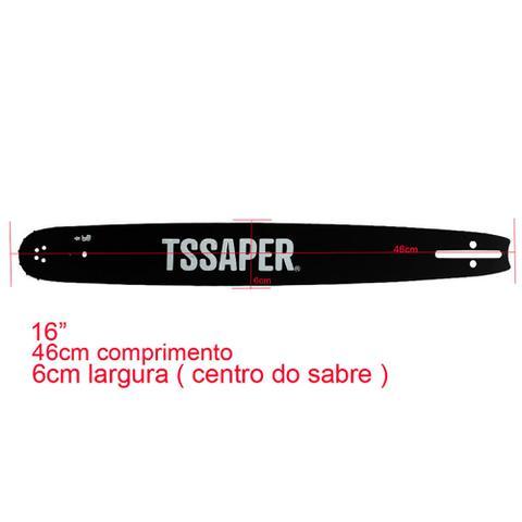 Imagem de Kit 1x Sabre 16 polegadas + 2 correntes 32 dentes para tekna CS46 / CS46S / CS46SAC/ CS46S1AC / CS55