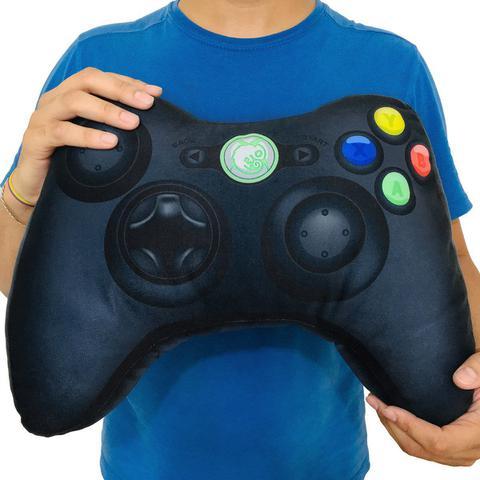 Imagem de Kit 2 Almofadas Gamer Inspiradas no Controle de Video Game Xbox 360 Preto