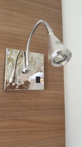 Imagem de Kit 2 Arandelas Articulada Led Cabeceira Cama Quarto Com Interruptor