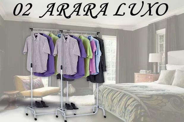 Imagem de Kit 2 Arara Luxo Com Rodinhas E Portátil - Compre Já Someway