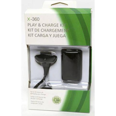 Imagem de Kit 2 Baterias Carregador Controle Xbox 360 Fat E Slim
