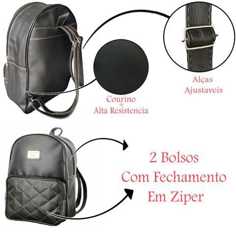 Imagem de Kit 2 Bolsas Feminina Mochila Couro Moda Leve2 Pague1 Faculdade Escolar Trabalho