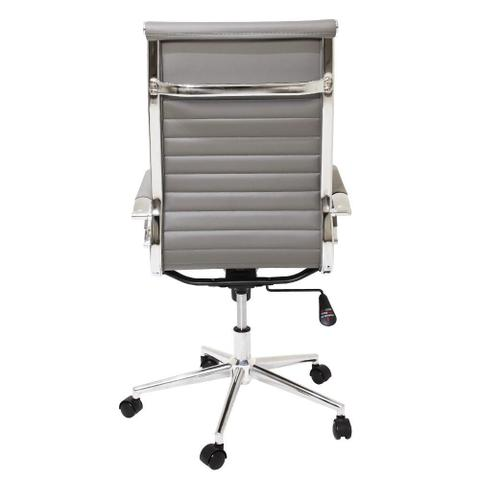 Imagem de Kit 2 Cadeiras De Escritório Cinza Presidente Ergonômica Charles Eames Eiffel Stripes Esteirinha