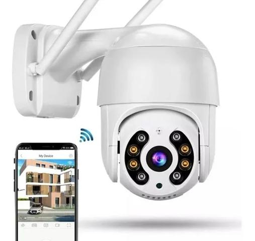 Imagem de kit 2 Câmera Ip Externa Speed Dome Wifi Auto Tracking Ip66 Ptz