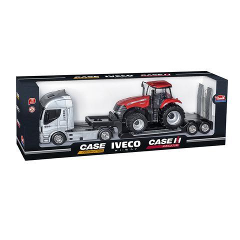 Imagem de Kit 2 Caminhão Hi Way + Trator Magnum Case + Trator Pá Carregadeira Usual Brinquedos