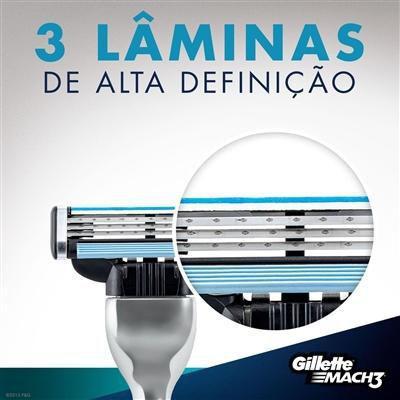 Imagem de Kit 2 Cargas Gillette Mach3 Leve 8 Pague 6 + Meia Lupo Gamer Infantil G